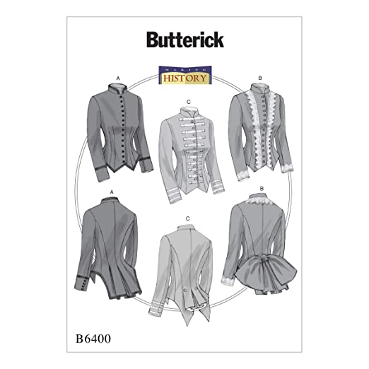 Steampunk Sewing Patterns- Dresses, Coats, Plus Sizes, Men's Patterns  Boned Back-Pleat Jackets by Making History E5 (14-16-18-20-22) $10.00 AT vintagedancer.com