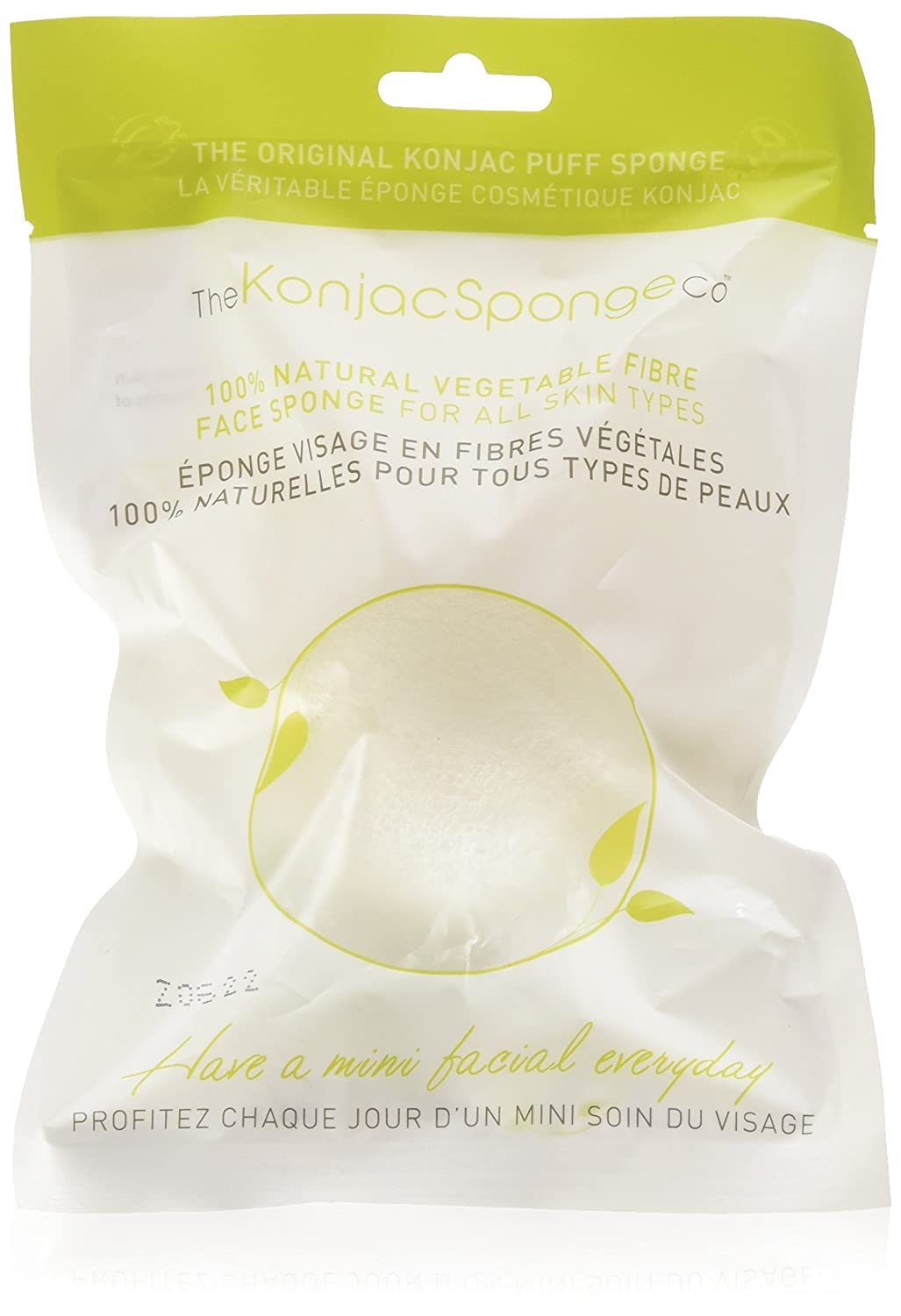 The Konjac Sponge Company Facial puff sponge pure white, 1 Count 2020FD