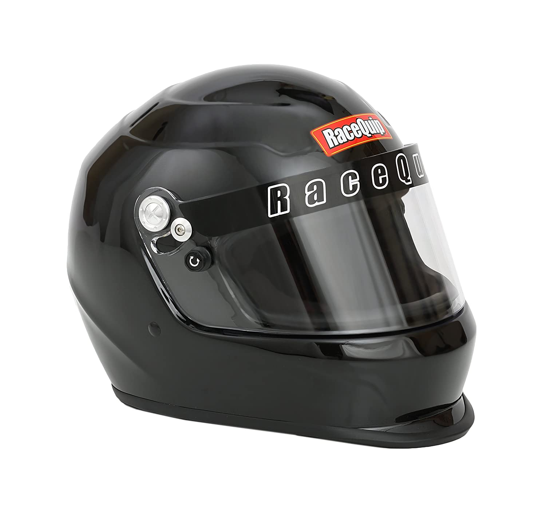 RaceQuip 2230093 Gloss Black Pro Kids Full-Face Model Youth/Jr Auto Racing Helmet (SFI 24.1 2015)