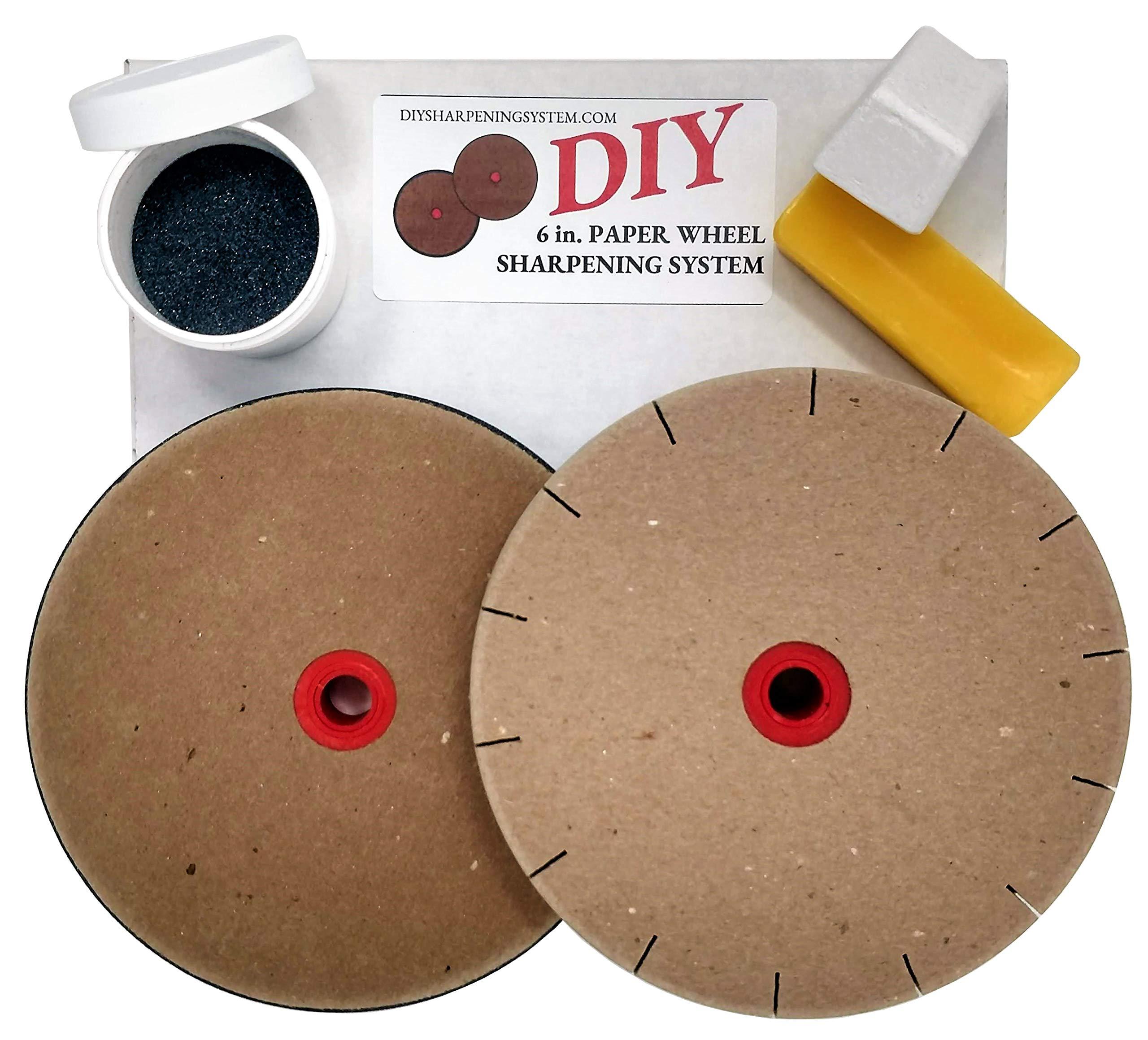Paper Wheels Sharpening System 6'' Wheels for 5'' Grinders Grit & Polishing Wheel