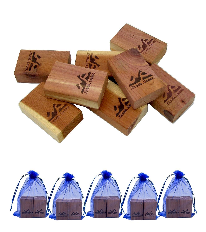 8 Blocks Closet Essentials Fresh Red Cedar Blocks Pest Moth Repellent Storage Accessories