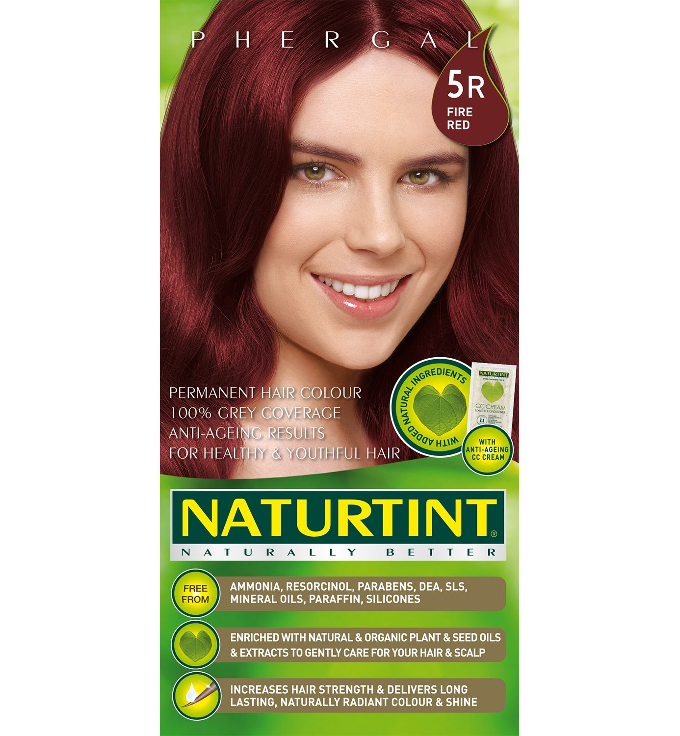 Naturtint Permanent Hair Colour, 5R Fire Red 165 ml Nature' s Dream 82297