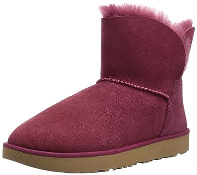 UGG Women's Classic Cuff Mini Winter Boot, Garnet, ...