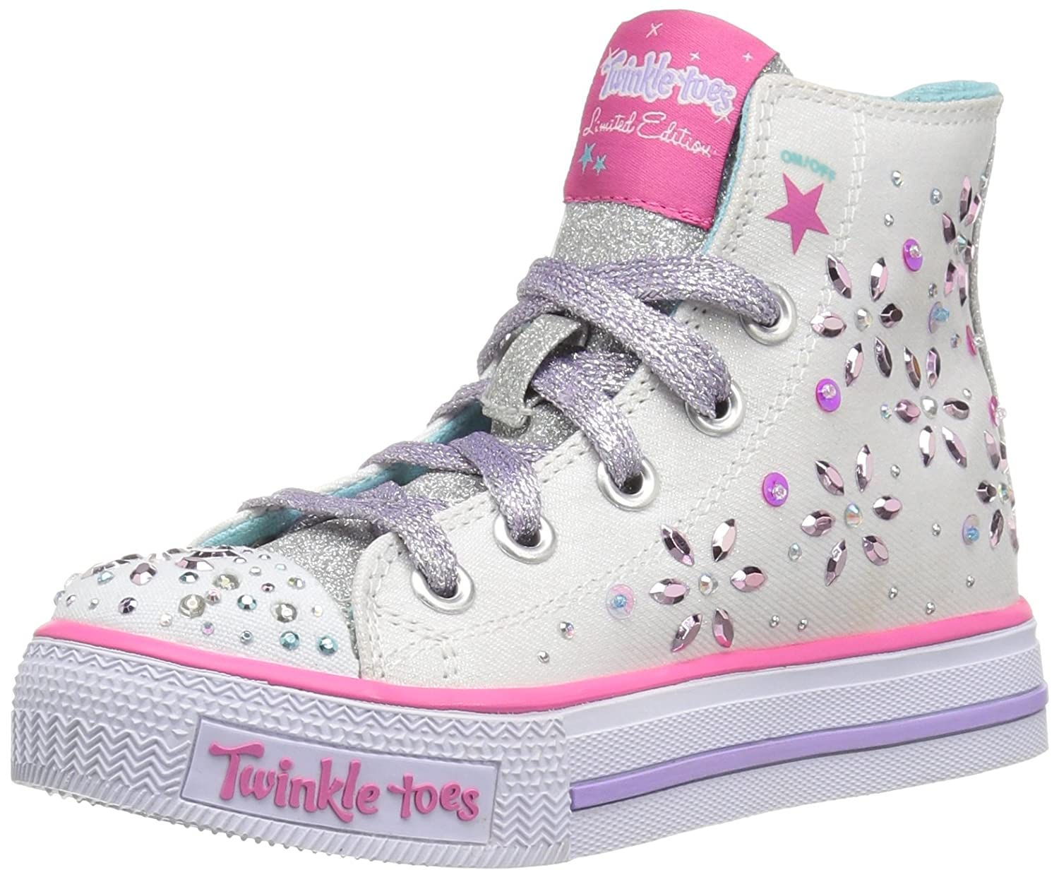 Skechers Girls' Twinkle Toes Shuffles Sparkly and Sweet High Top