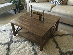 International Concepts Ot 70sc Hampton Square Coffee Table Unfinished Kitchen Dining