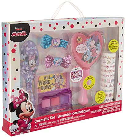 Amazon.com : TownleyGirl Minnie Mouse Hair and Makeup Set, with Bonus Light Up Mirror : Beauty