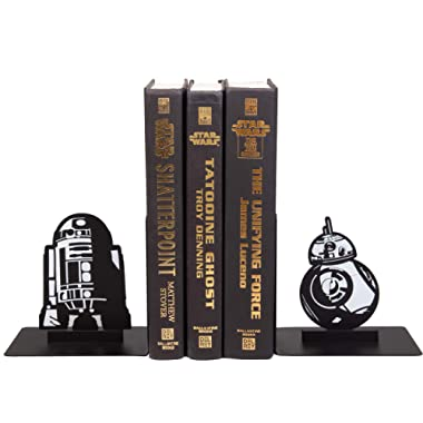 Seven20 Star Wars Droid Bookends - Decorative Metal R2-D2 and BB-8 Designs