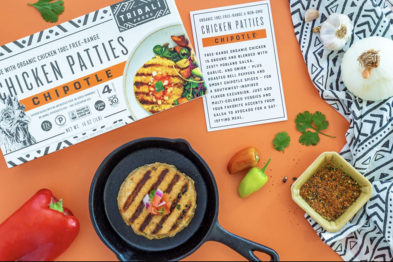TRIBALÍ Foods, Organic Patties, Variety 6-Pack Combo (3 Chipotle Chicken + 3 Umami Beef): Amazon.com: Grocery & Gourmet Food