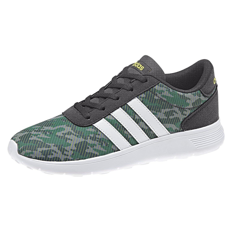 adidas Scarpe Uomo Sneakers LITE Racer K in Tela Verde ...