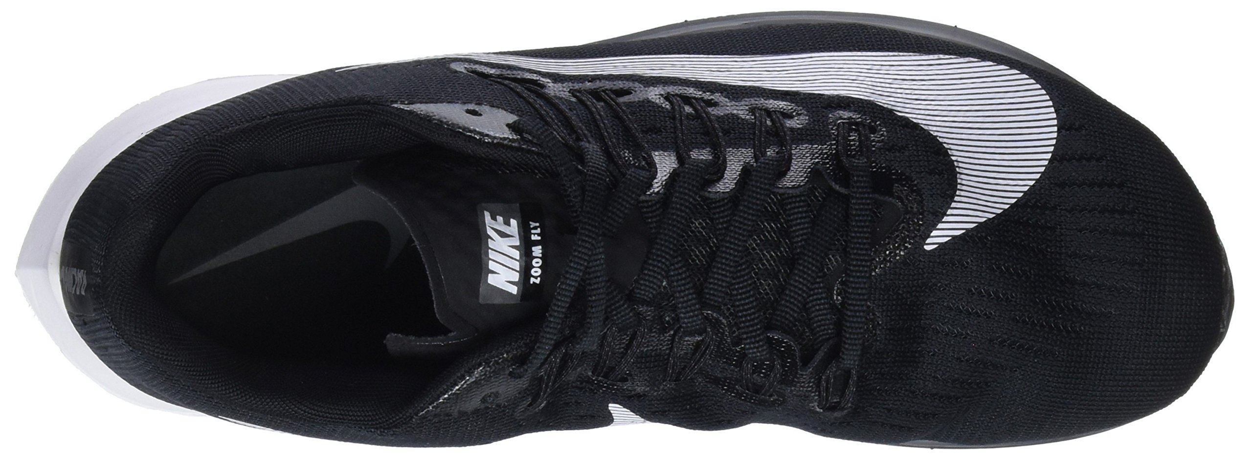 NIKE Women's WMNS Zoom Fly, Black/White, 9 M US by NIKE (Image #7)