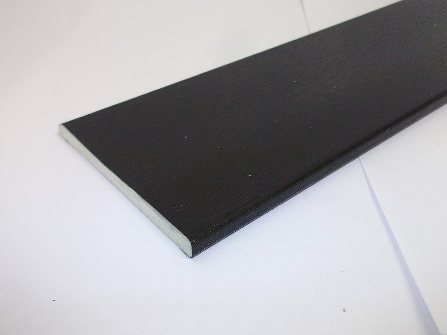 65mm Black Ash 450mm Length PVC UPVC Window Flat Trim Architrave Fillet Finish Capping Innovo