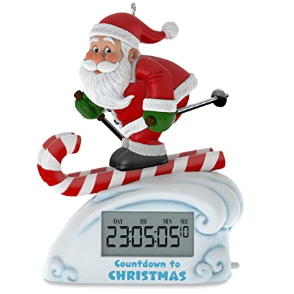 Hallmark Keepsake 2017 Santa Skiing Countdown to Christmas Clock Christmas  Ornament With Light - Amazon.com: Hallmark Keepsake 2017 Santa Skiing Countdown To