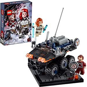LEGO Marvel Avengers Taskmaster's Ambush 77905 Exclusive Black Widow Movie Building Kit; Includes Black Widow, Taskmaster and Red Guardian Minifigures and the Taskmaster's Vehicle (230 Pieces)