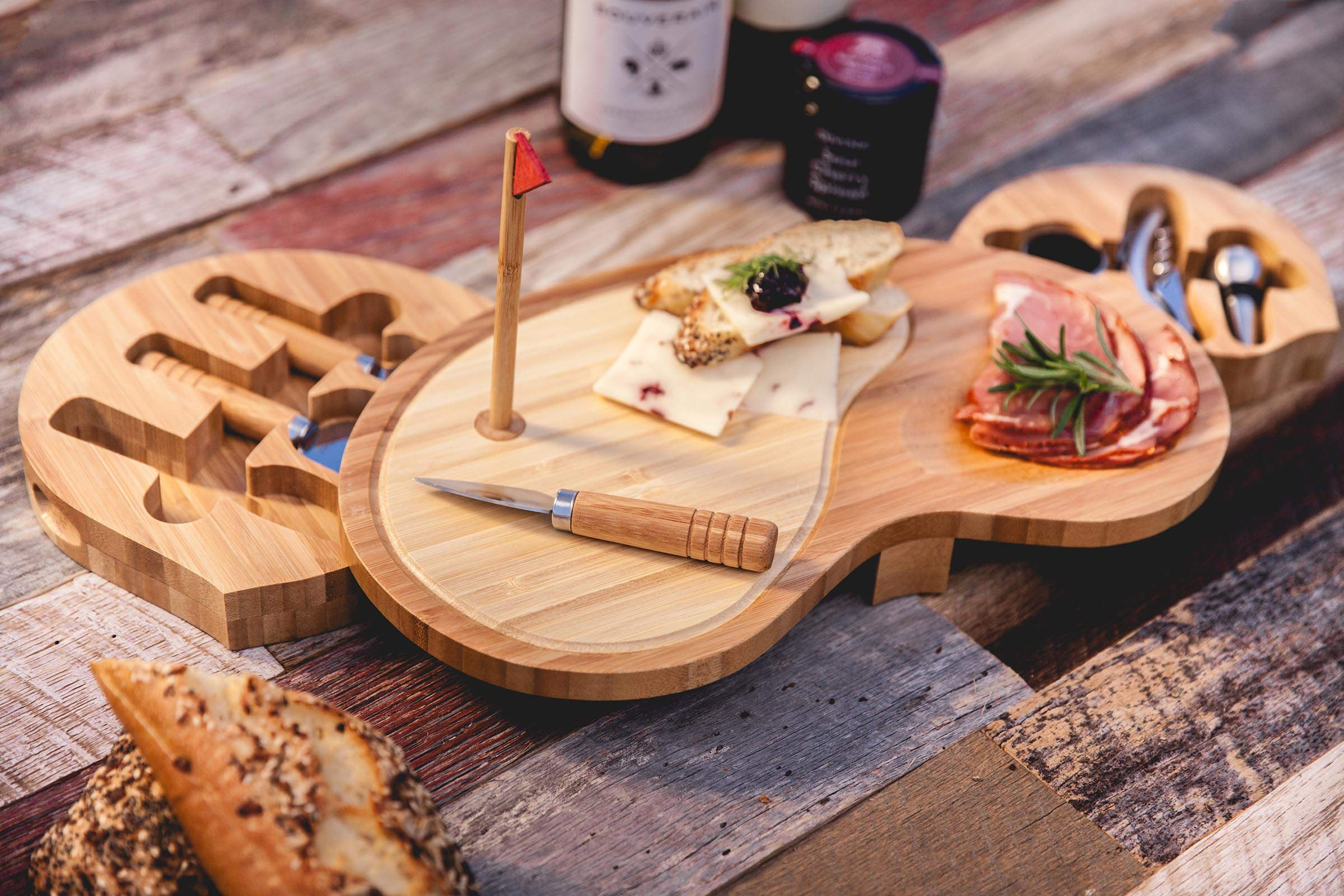 TOSCANA - a Picnic Time Brand Sand Trap Cheese Board and Tool Set by TOSCANA - a Picnic Time brand (Image #2)