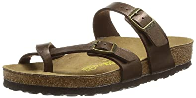 a7c1f79dc Image Unavailable. Image not available for. Color  Birkenstock Women s  Mayari Adjustable Toe Loop Cork Footbed Sandal ...