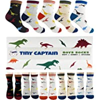 Calcetines de dinosaurio para niños de 4 a 7 años de edad, el mejor regalo para niños de 7 a 10 años, calcetines de…