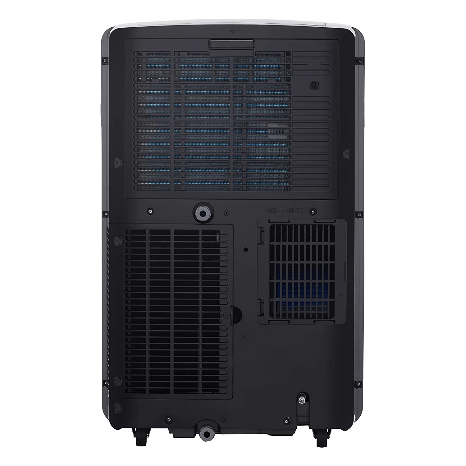 LG LP1217GSR 115V Portable Air Conditioner with Remote Control in Graphite  Gray for Rooms up to 300-Sq  Ft