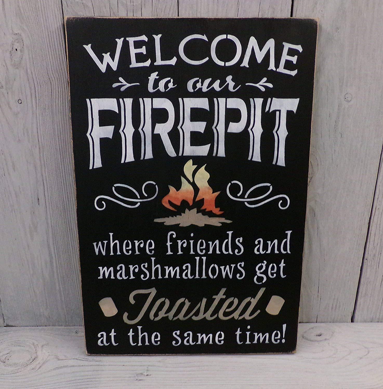 Amazon.com: Bienvenido a nuestra brasero donde amigos y ...