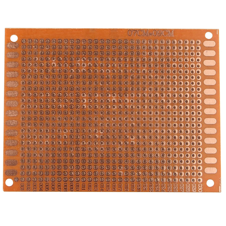 haljia 5/piezas 7/cm x 9/cm Prototipo universal PCB placa de circuito placa baquelita un solo lado Cobre para soldadura
