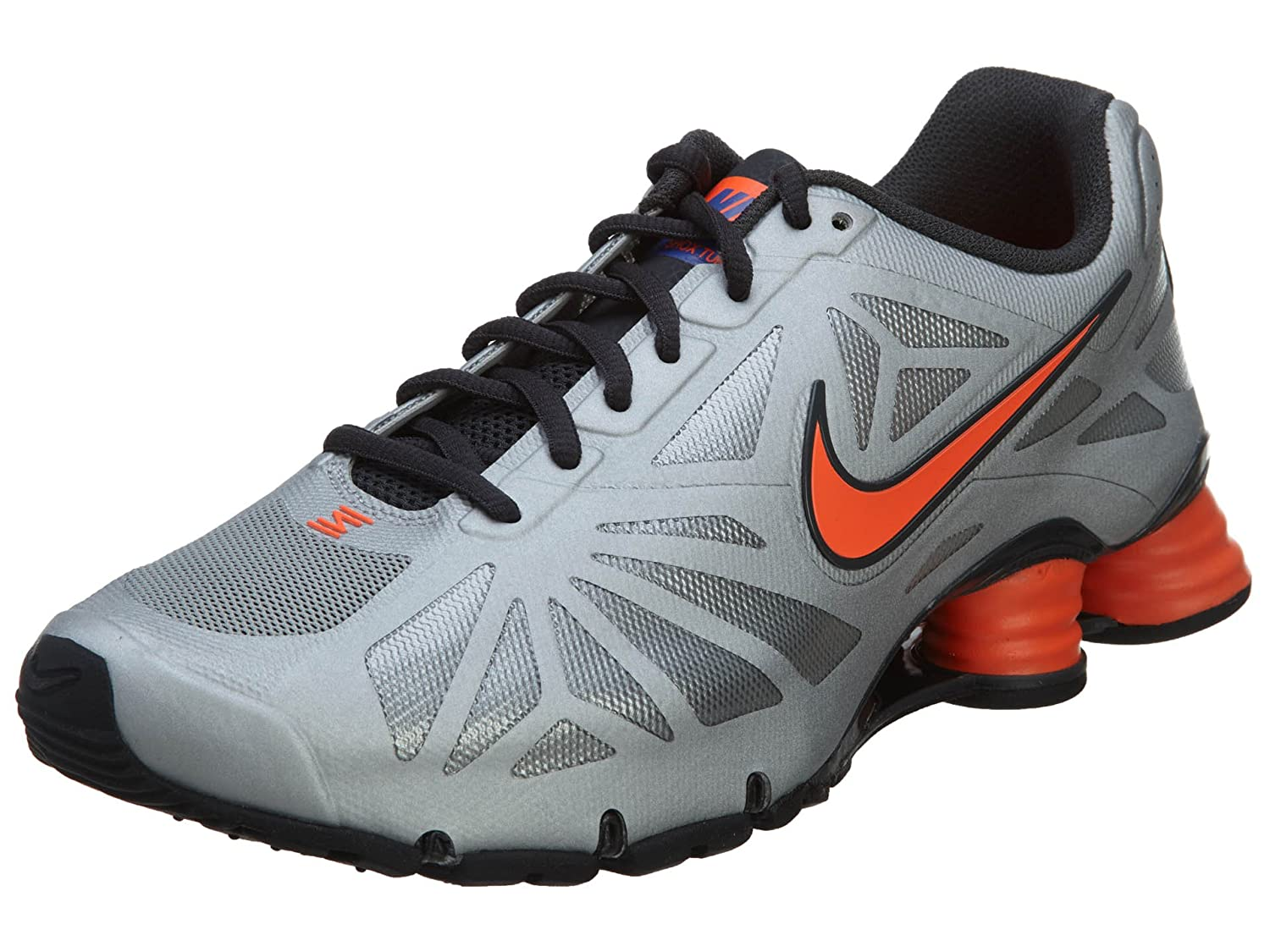 6b71a8ab3e824e Nike Shox Turbo 14 Men s Running Shoes Metallic Silver Hyper  Crimson-Anthracite 8.5 D(M) US  Buy Online at Low Prices in India - Amazon. in
