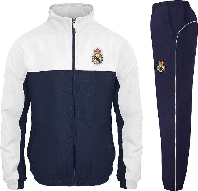 UK Platinum Storefront Real Madrid - Chándal Oficial para niño - Chaqueta y pantalón Largo - 6 años: Amazon.es: Ropa y accesorios