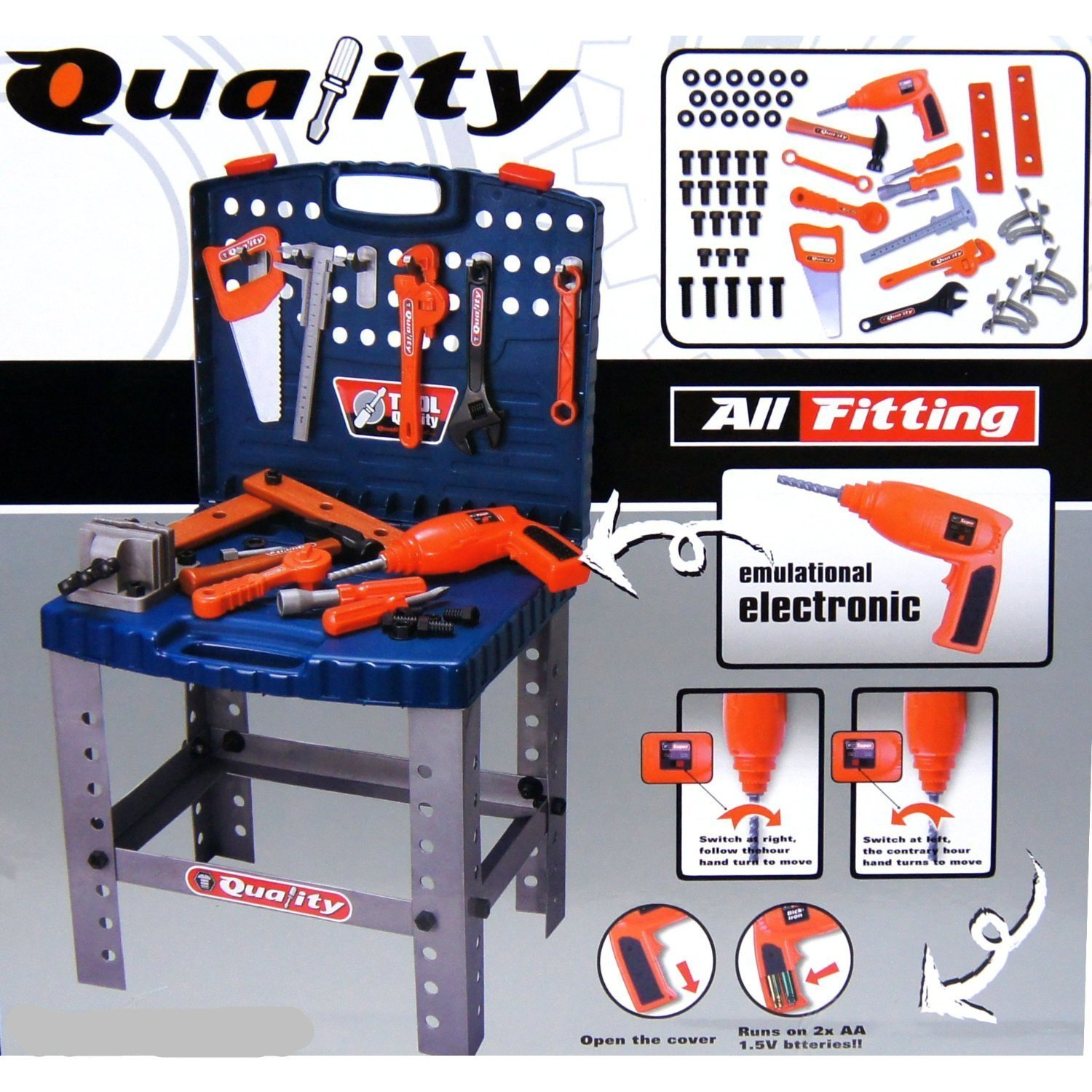 Amazon.com: Realistic Toy Tool Set Workbench Kids Workshop Toolbench with