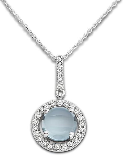 Miore - MP9135ZN - Collier Femme - Or blanc 375/1000 (9 carats) 1.0 gr - Topaze/Oxyde de Zirconium