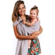 Luxury Ring Sling Baby Carrier – Extra Soft Bamboo & Linen Fabric, Full Support and Comfort for Newborns, Infants & Toddlers - Best Baby Shower Gift - Nursing Cover  (Lilac Cloud)