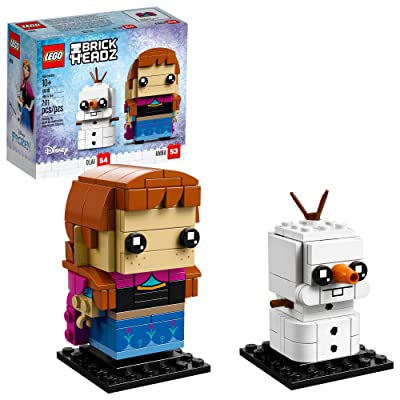 LEGO BrickHeadz Anna & Olaf Building Kit, Multicolor: Toys & Games