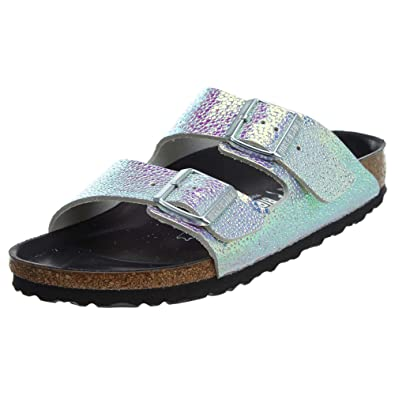 Birkenstock Arizona NL Ombre Pearls Silver Black: Amazon.co