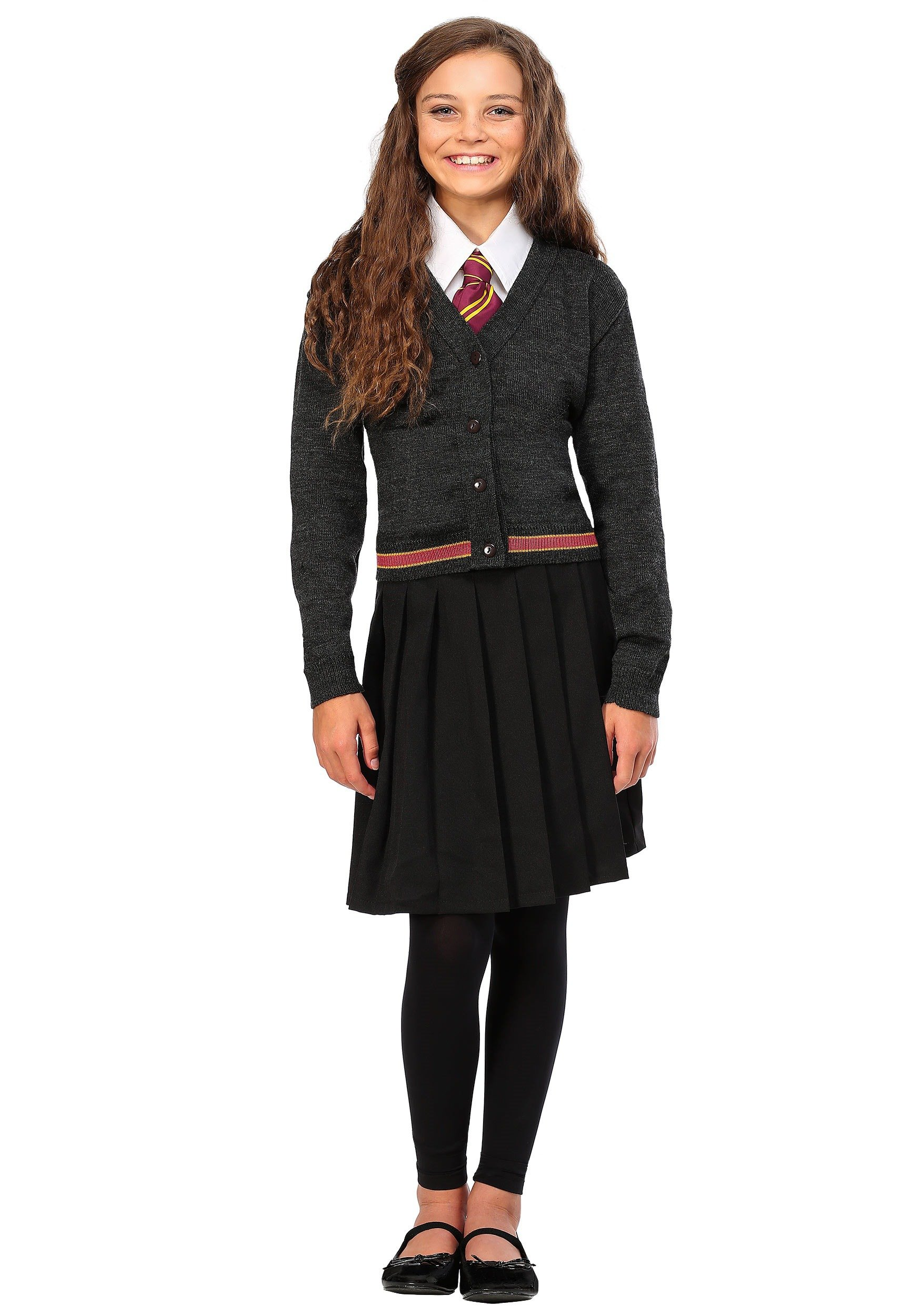 Girls Deluxe Hermione Granger Uniform and Robe Costume - XS by Charades (Image #5)