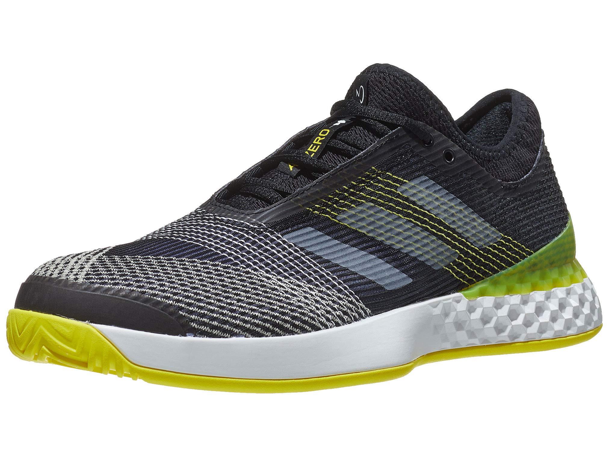 adidas Adizero Ubersonic 3.0 Shoe - Men's Tennis 6.5 Core Black/White/Shock Yellow