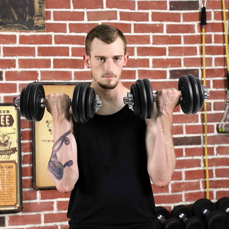 Klemmverschlu/ß BoloShine 4 St/ücke Hantel Halsb/änder 1 Zoll Hantelverschl/üsse Hantelstangen Verschluss Schnellverschluss f/ür Pro Workout Training Langhantelklemmen