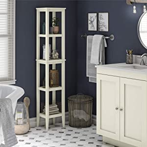Ameriwood Home SystemBuild Franklin, Soft White Storage Tower