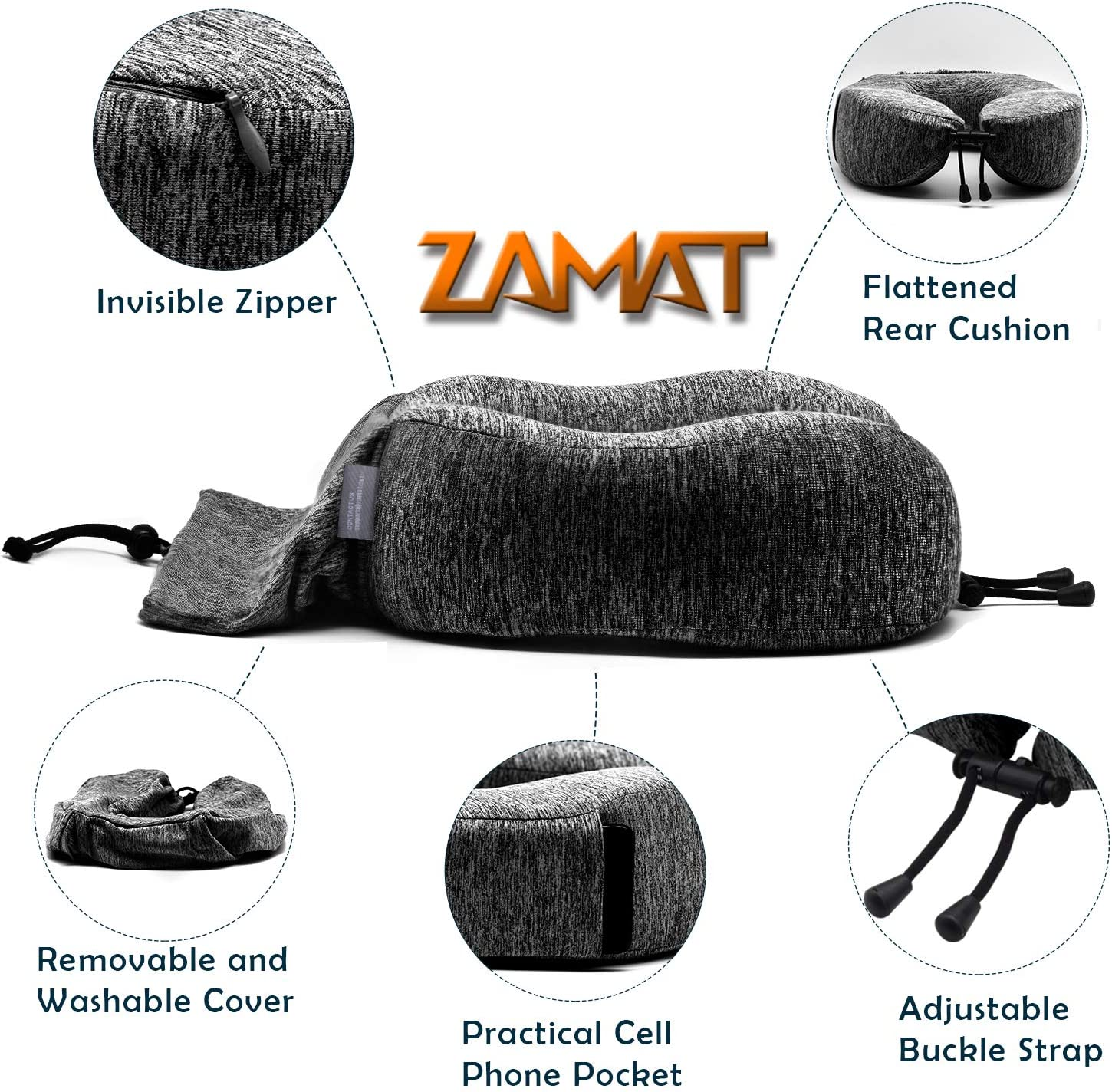 Bed Pillows & Positioners 360-Degree Head Support Travel Kit with ...