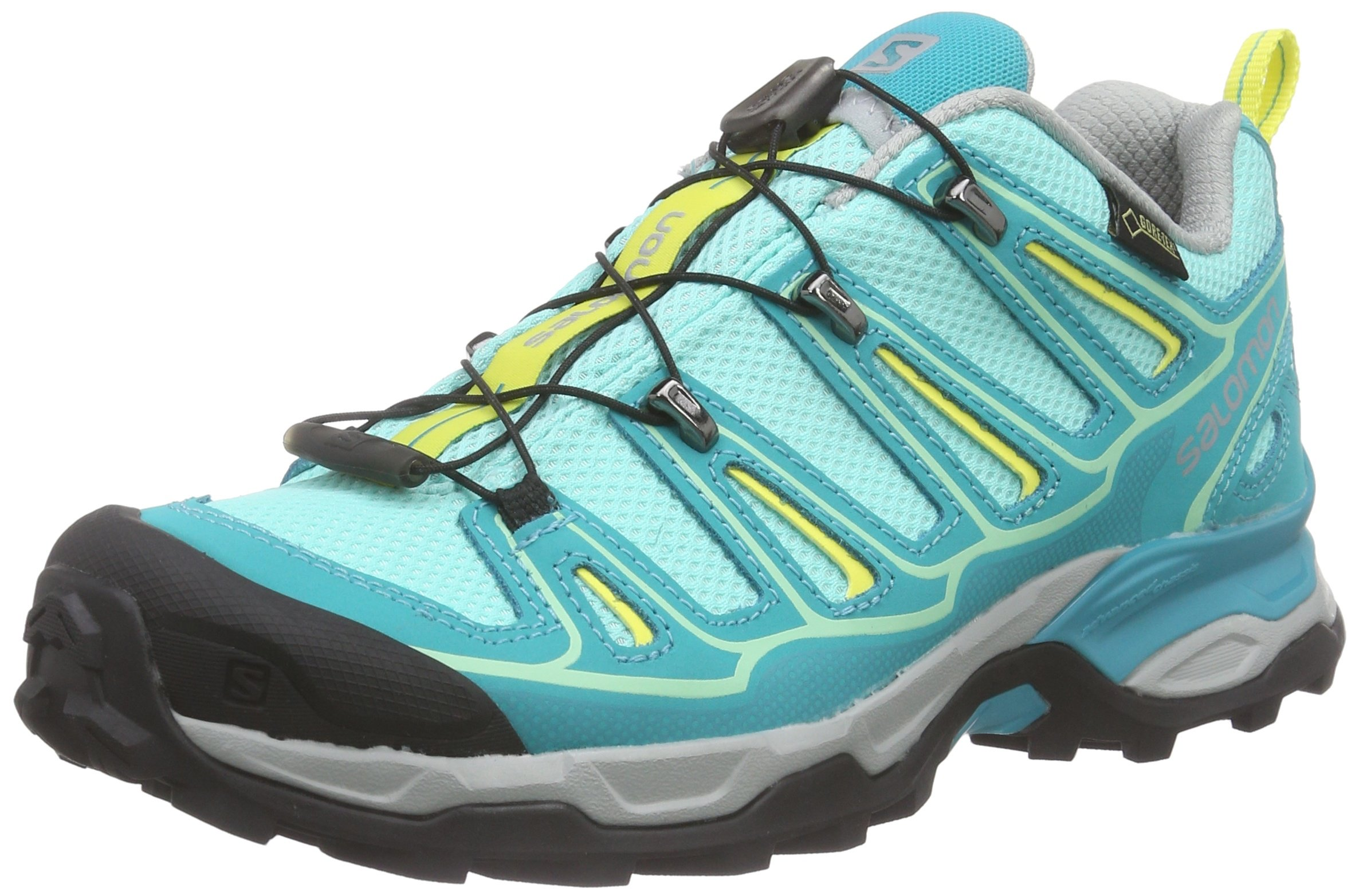 Salomon Women's X Ultra 2 GTX Hiking Shoe (9 B(M) US, Bubble Blue/Teal Blue F/Citrus-X)