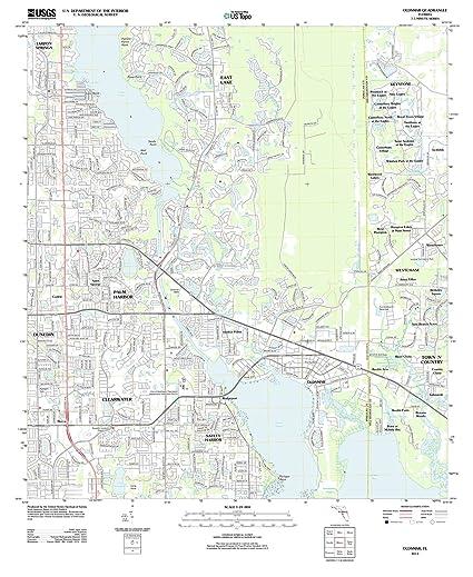 Oldsmar Florida Map.Amazon Com Usgs Historical Topographic Map 2012 Oldsmar Fl Fine