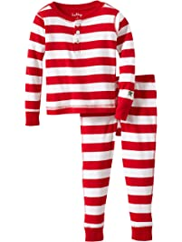 fe19467ddc Hatley Girls  Pajama Set-Candy Cane Stripes