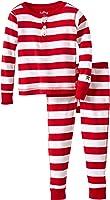 Hatley Girls'  Pajama Set-Candy Cane Stripes