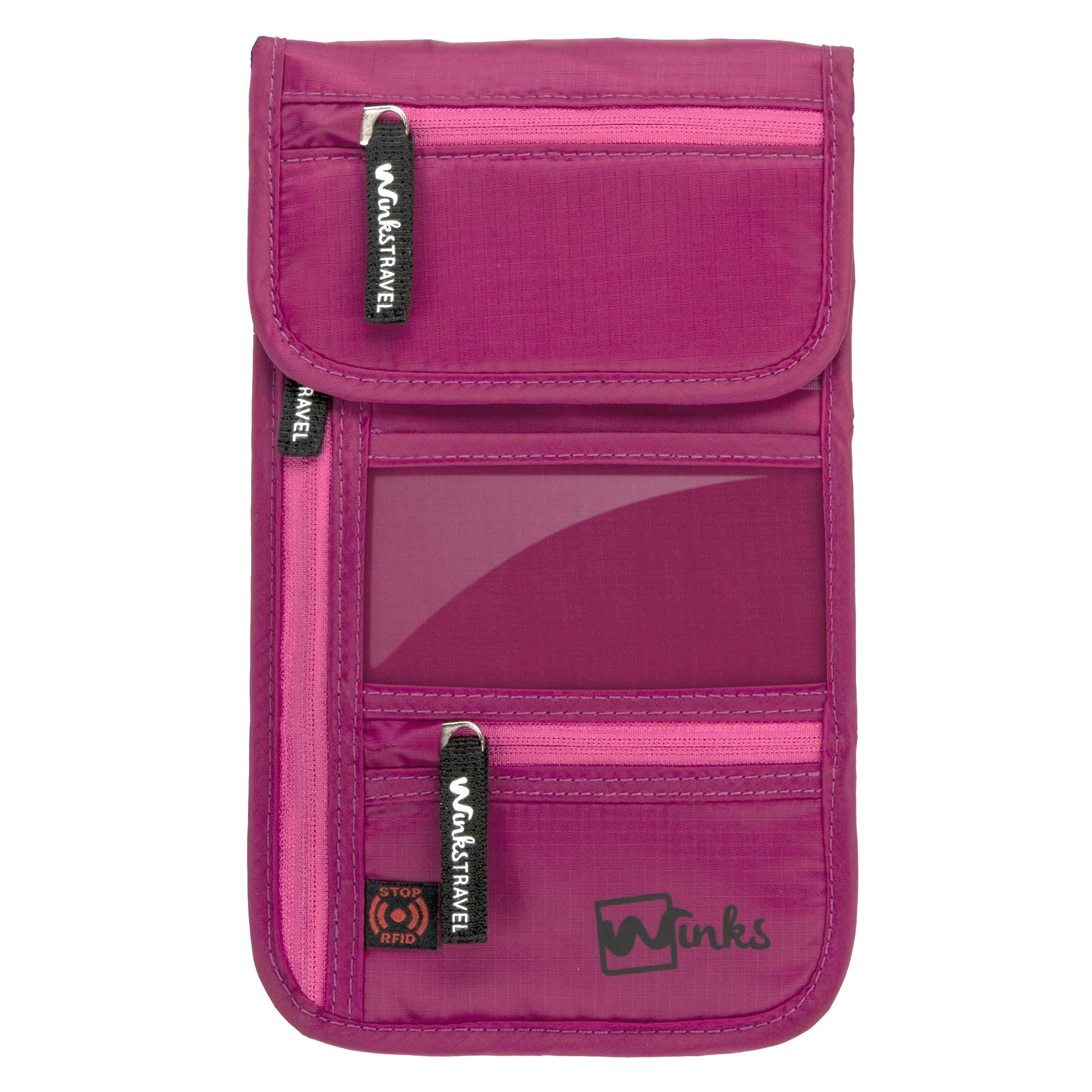 Winks Travel Shoulder Wallet Holder for Women | RFID Blocking Neck Pouch by Winks Travel