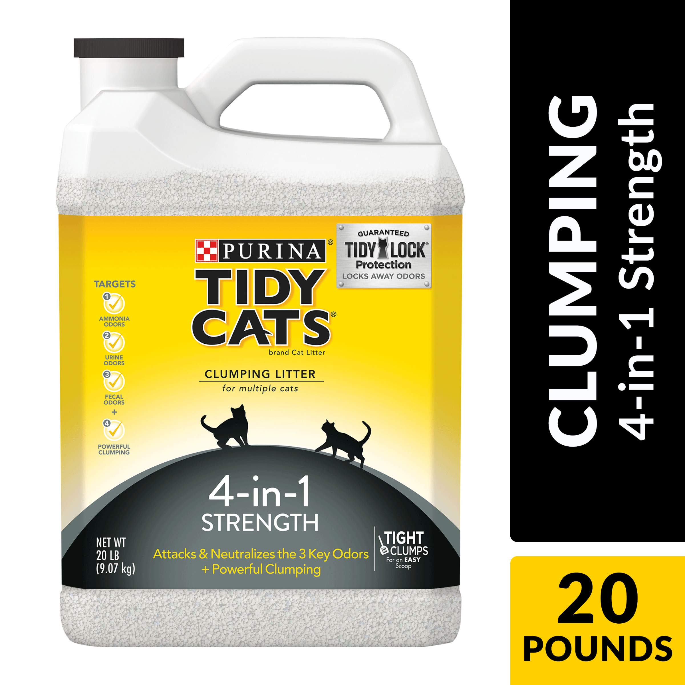 Purina Tidy Cats Clumping Cat Litter, 4-in-1 Strength Multi Cat Litter - (2) 20 lb. Jugs by Purina Tidy Cats