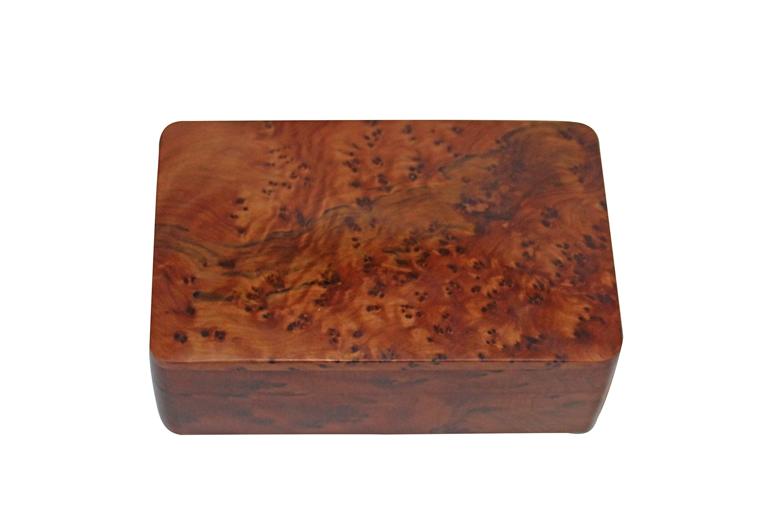 Bazaardi Exotic Hand Carved Wooden Multipurpose Keepsake Jewelry Trinket Box Storage Organize (Medium wood Box)