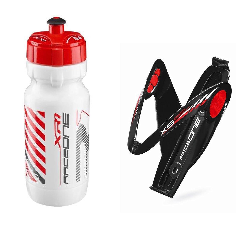 Portabidon RACEONE X5 Gel de Fibra COLOR NEGRO-rojo para Bicicleta