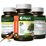 CLA Supplement High Potency All Natural Weight Loss Vitamin , 1000MG -Increases Metabolic Rate, Fat Burner, Gluten Free -60 Softgels- By Vitapath