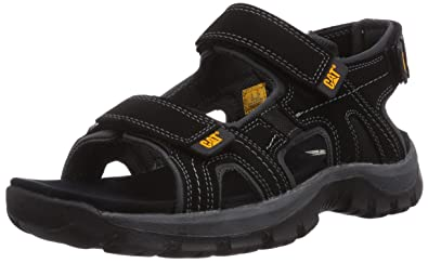 3c31b0ce557f Caterpillar Giles CAT Leather Sandals in Black P716653  UK 6 EU 40