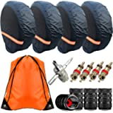 Aootf RV Tire Covers Set of 4- Waterproof Tire Covers for RV Wheel Travel Trailer Camper Car Truck SUV Motorhome, Wheel…