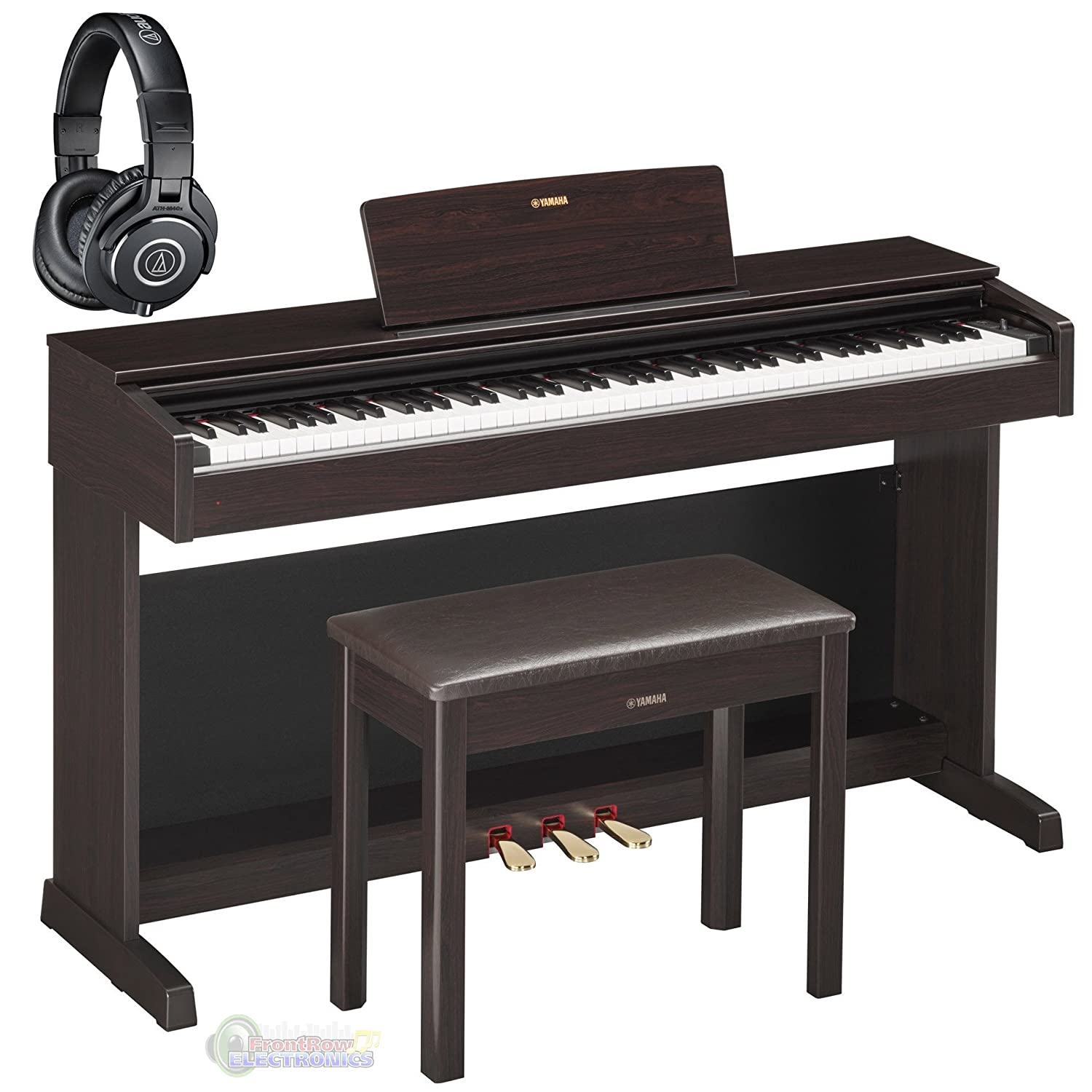 Yamaha YDP143R Arius Traditional Dark Rosewood Console Digital Piano w/ Bench and Headphones YDP143R BUNDLE