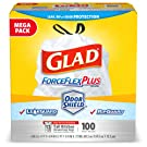 Clorox Commercial Solutions Glad ForceFlex Tall Kitchen Drawstring Trash Bags - Unscented - 13 Gallon - 100 Count