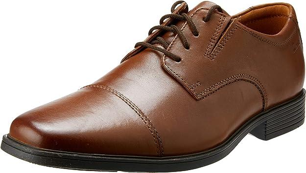 TALLA 42.5 EU. Clarks Tilden Cap, Zapatos de Cordones Derby Hombre