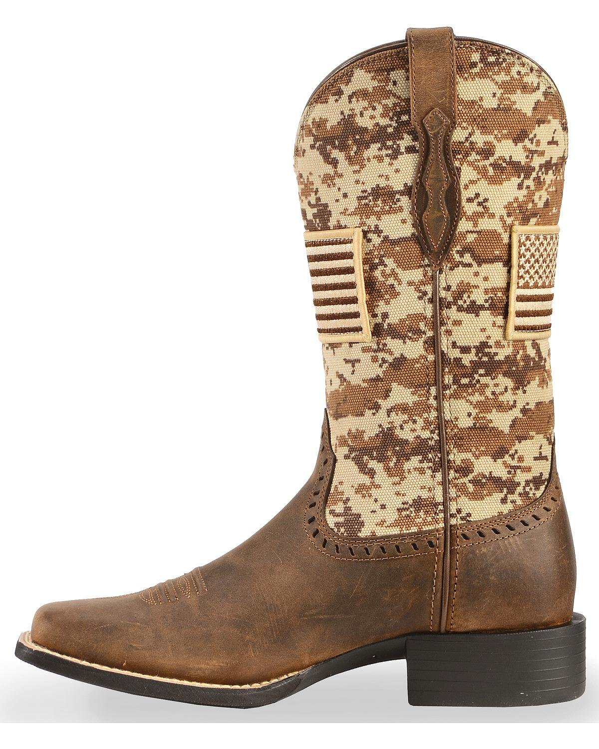 Ariat Women's Round up Patriot Boot B079BTJLYD 7.5 M US|Distressed Brown
